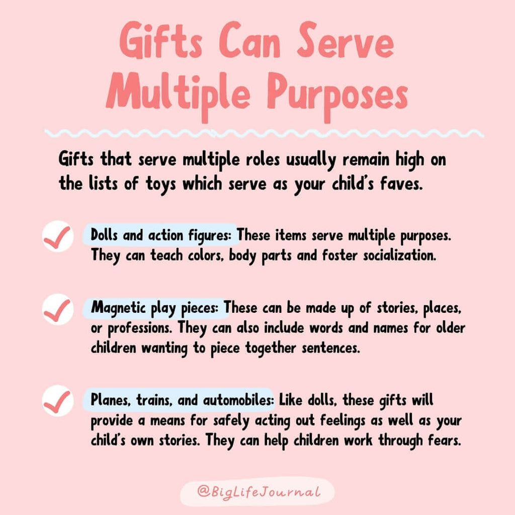Gifts can serve multiple purposes