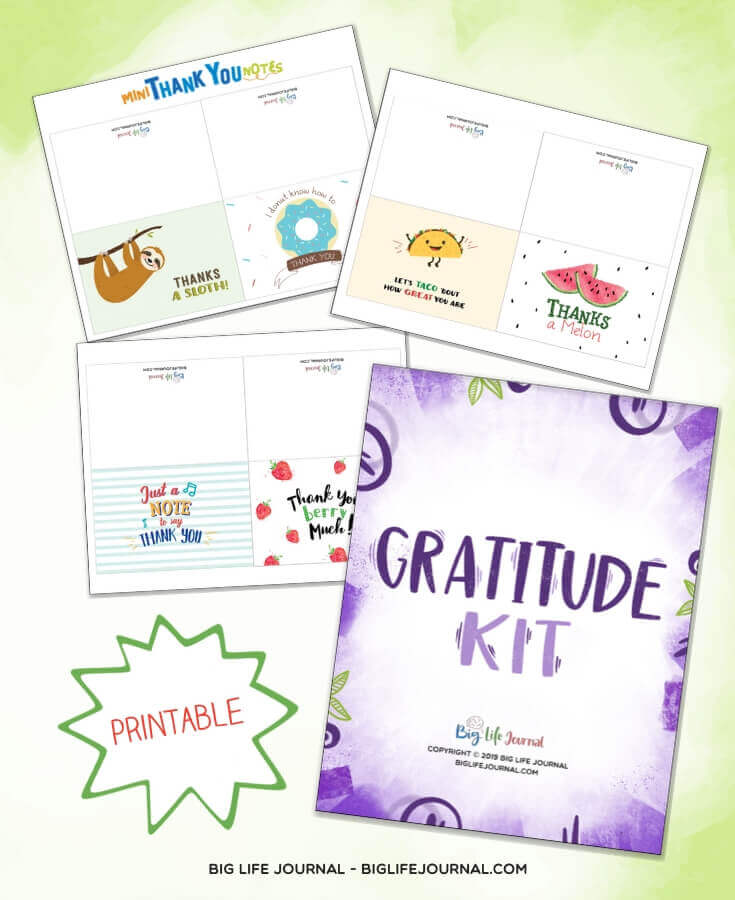 Gratitude Kit - Thank you cards for kids