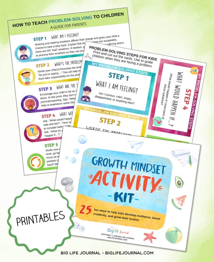 Growth Mindset Activities Kit - Problem Solving
