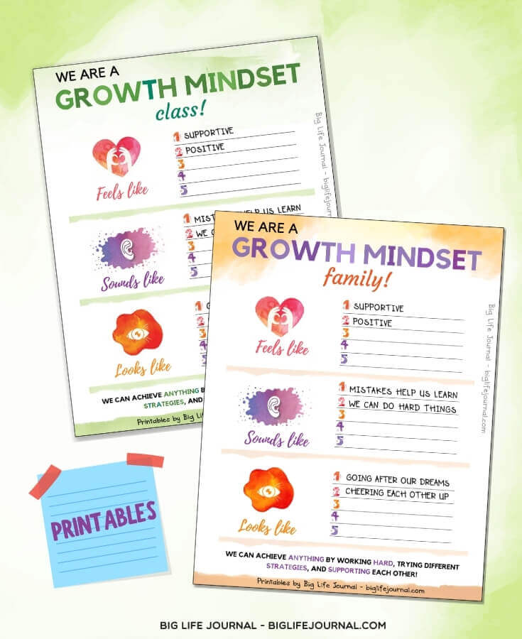 Growth Mindset Class and Family