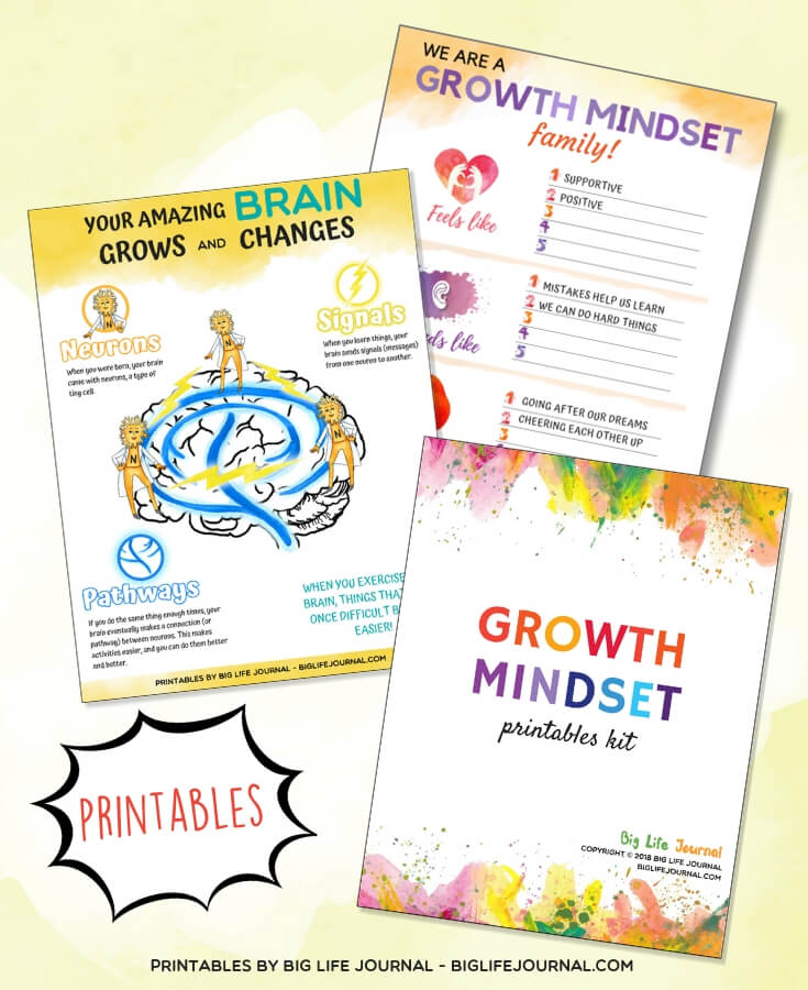 Growth Mindset Printables Kit - Big Life Journal
