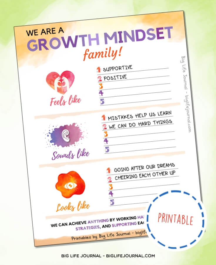Growth mindset family