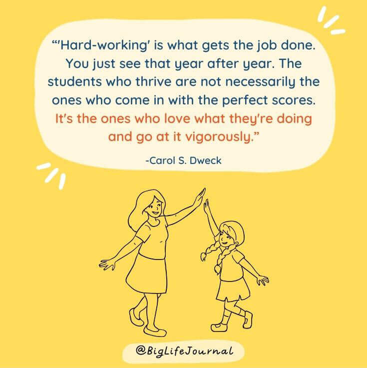 Hard working is what gets the job done