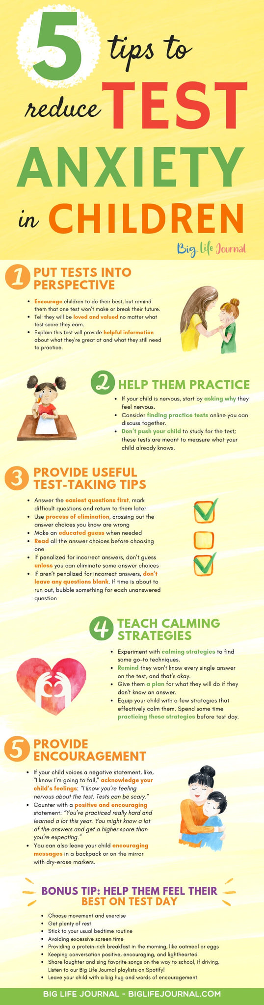 5 Tips to Reduce Test Anxiety in Children