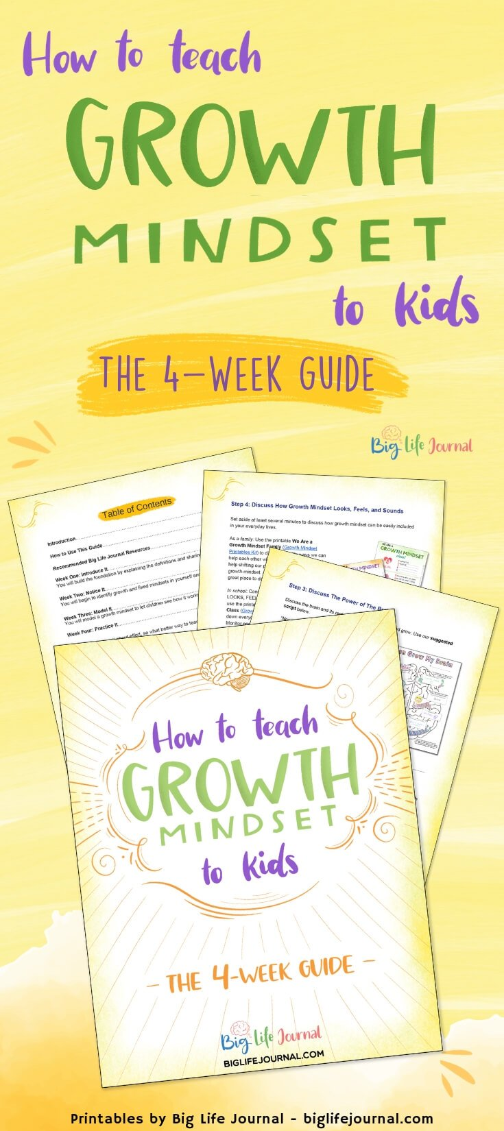How To Teach Growth Mindset To Kids The 4 Week Guide Big Life Journal