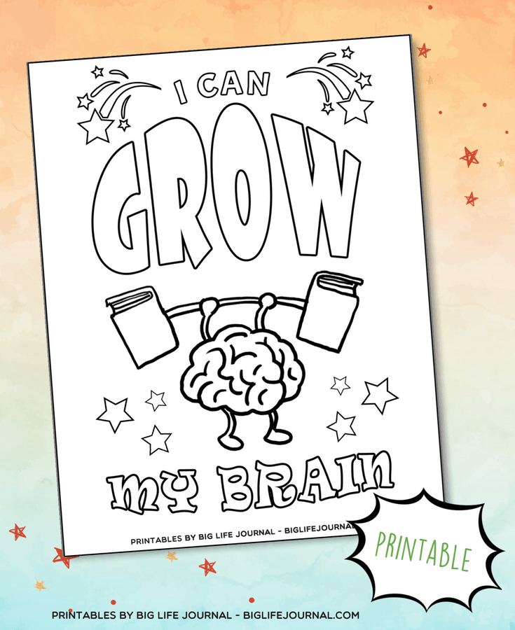 I can grow my brain printable