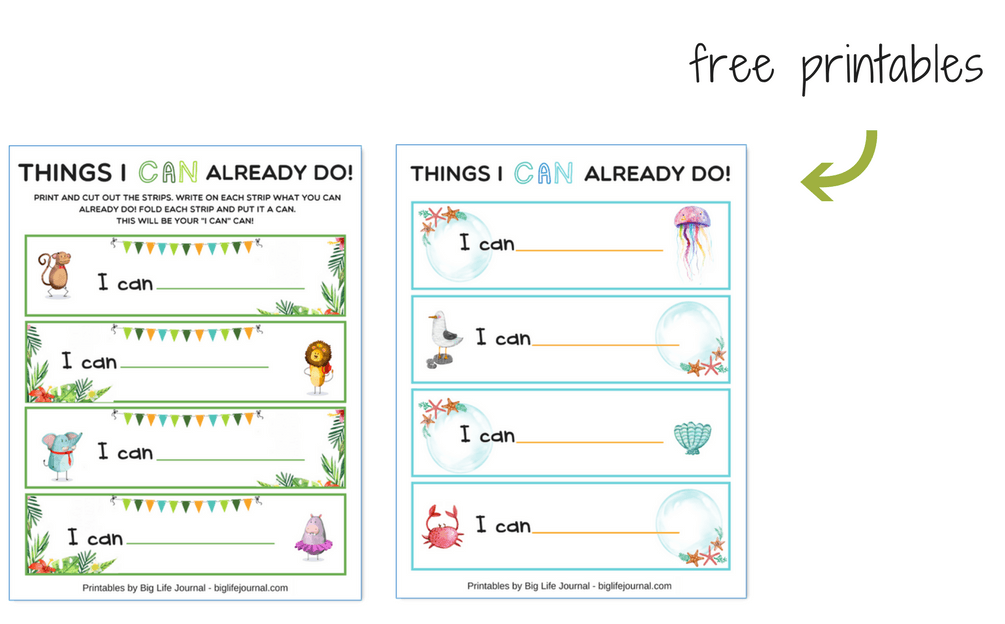 I can printable activity for children