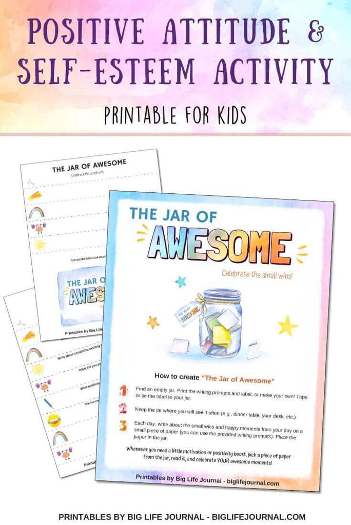 Jar of Awesome - positivity & self-esteem activity
