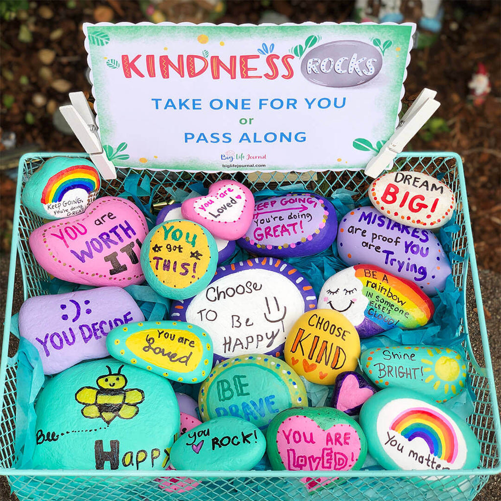 Kindness Rocks Challenge Printable for Kids