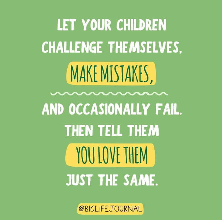 Let your children challenge themselves