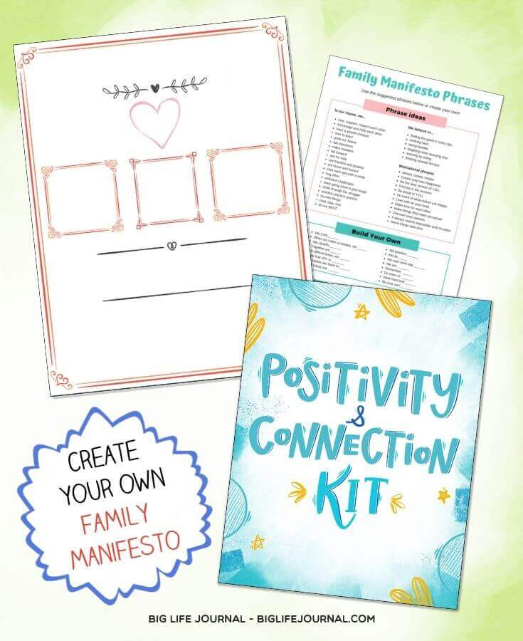 Family Manifesto - Positivity & Connection Kit