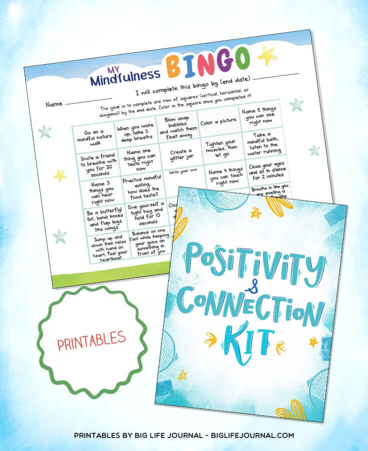 Positivity & Connection Kit - Mindfulness Bingo