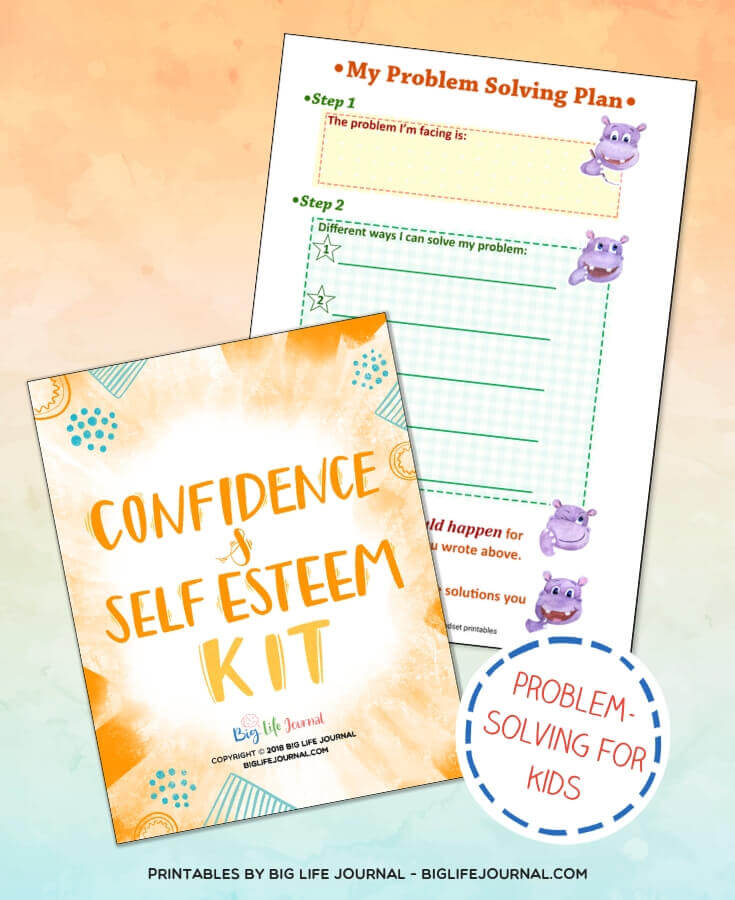 My problem solving plan - Confidence & Self Esteem Kit