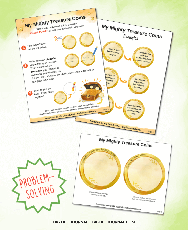 My Mighty Treasure Coins - big life journal