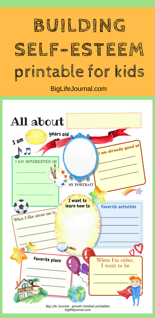 A free printable for kids which helps build their self-esteem. It helps them find their strengths, what they like to do and what they want to learn.