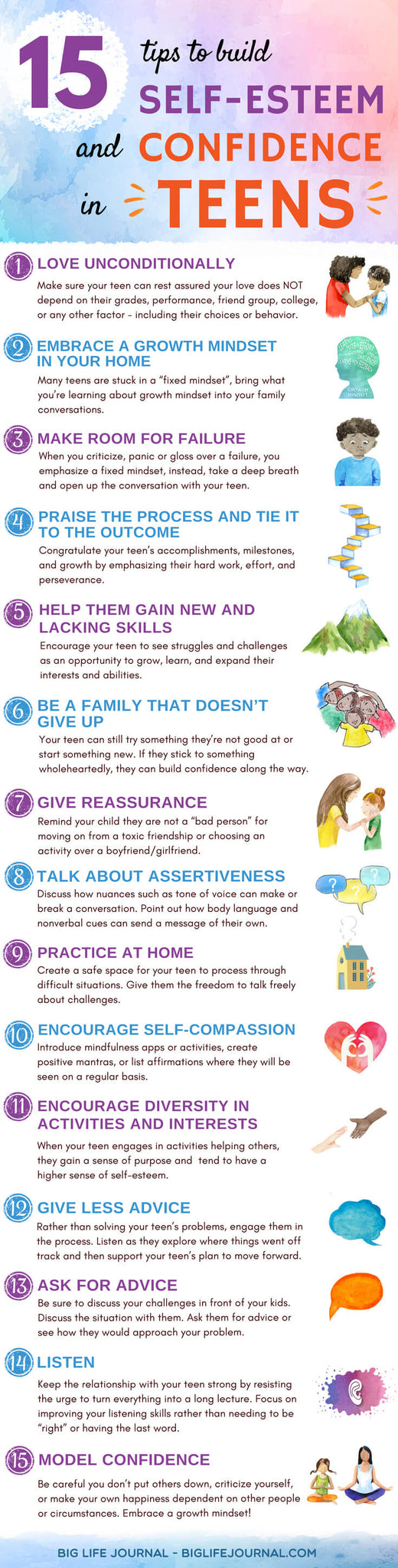 Self Esteem & Confidence Teens - big life journal