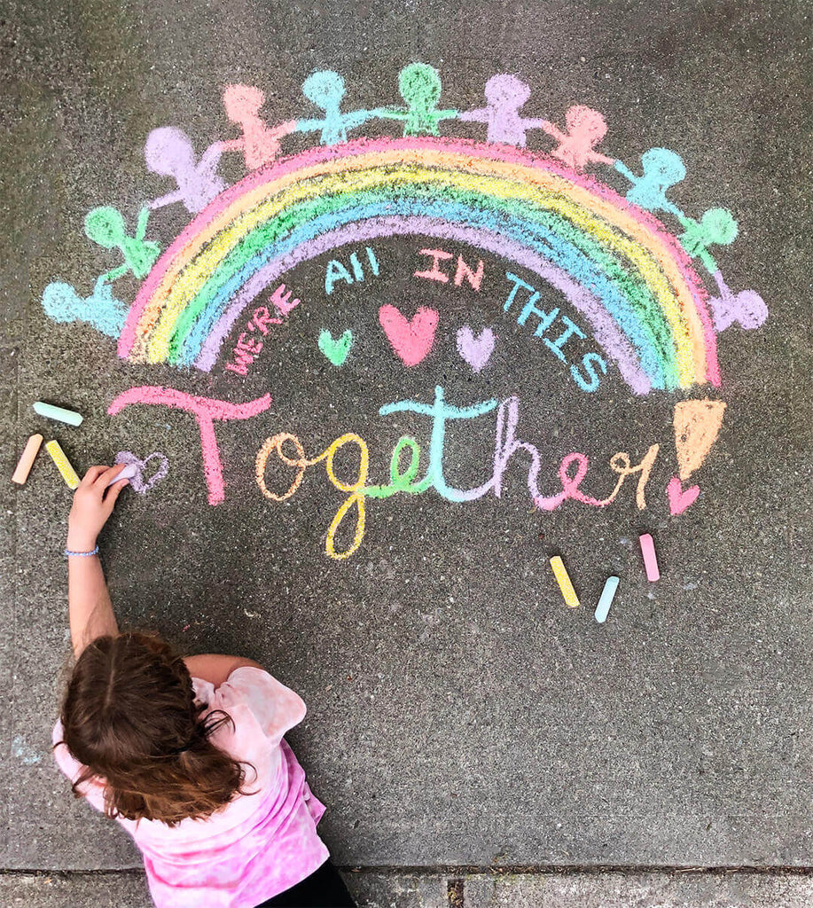Create Sidewalk Chalk Art