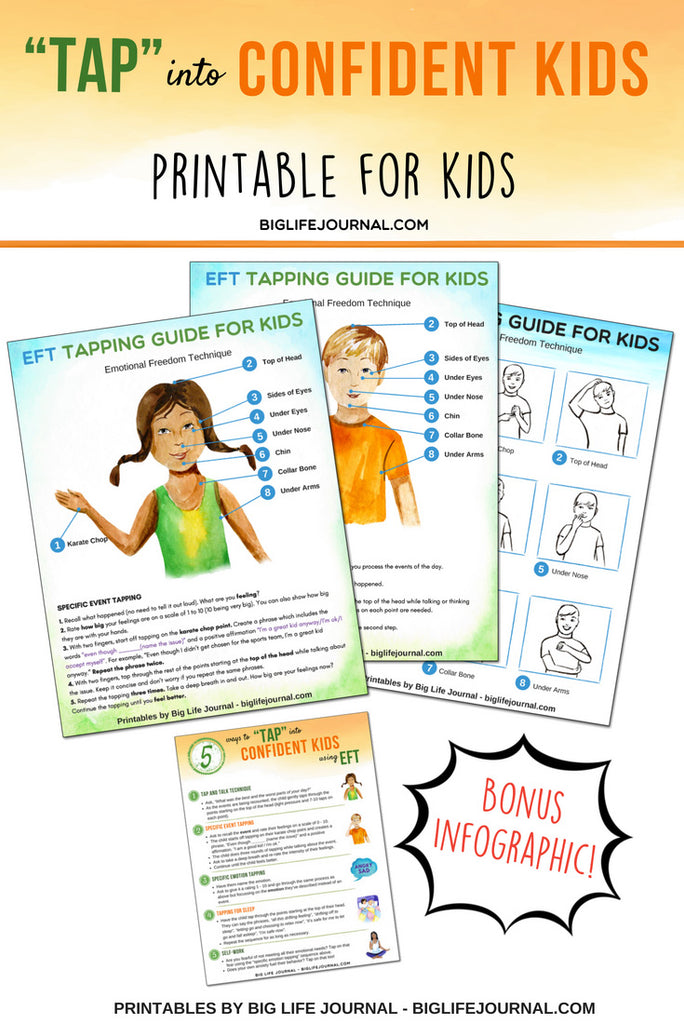 Tap Confident Kids EFT printable - Big Life Journal