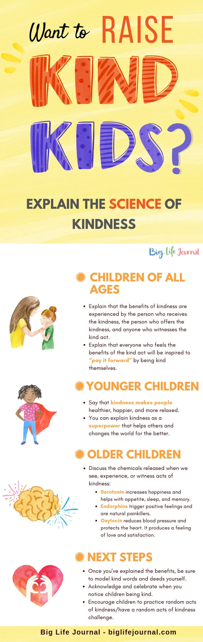 Want to Raise Kind Kids- big life journal