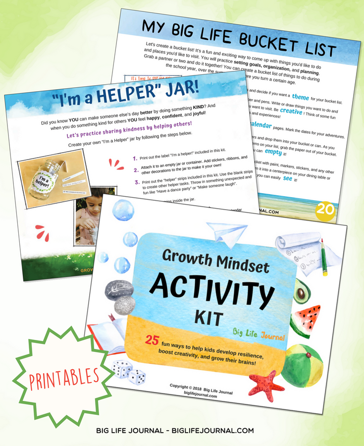 activities kit bucket list and helper jar
