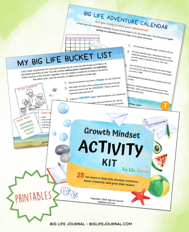 activity kit bucket list calendar - big life journal