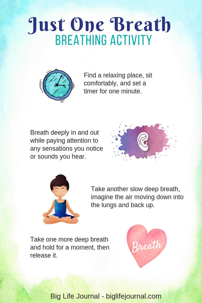 Breathing activity - big life journal