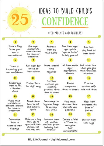 25 ways to build your child's confidence