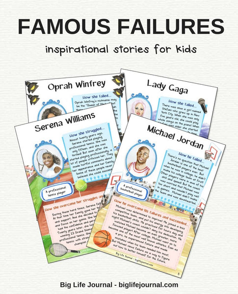 Famous Failures printable Kit (PDF) by Big Life Journal