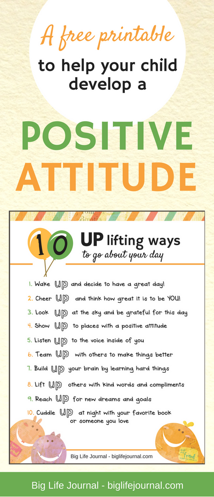 Help your child develop a positive attitude with this free printable poster for kids!