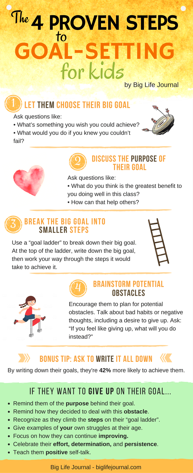 4 Steps For Helping Your Child Set Effective Goals With Printables
