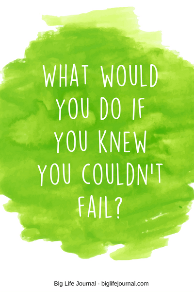 "When helping your child to choose a big goal, ask her: ""What would you do if you knew you couldn't fail?"""