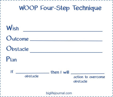 A goal-setting activity for kids called WOOP.
