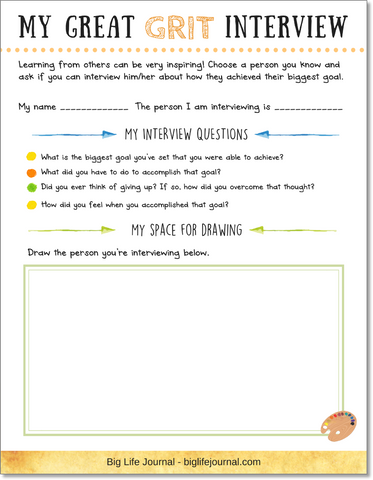 Grit interview template for children