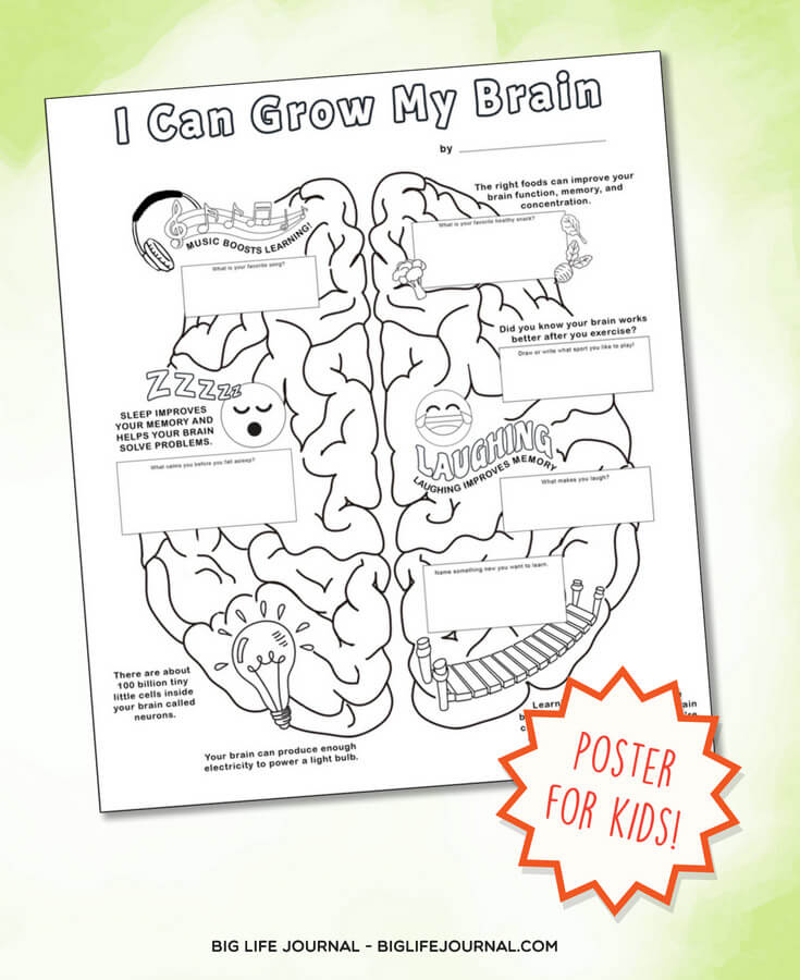 I Can Grow Brain Poster