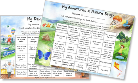 Two bingo games which help kids learn goal-setting and commitment.