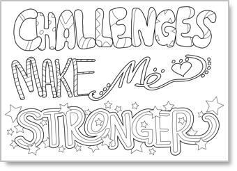 A growth mindset coloring sheets for kids.