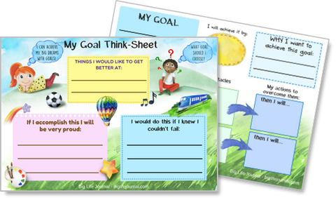Goal-setting printable worksheets for kids.