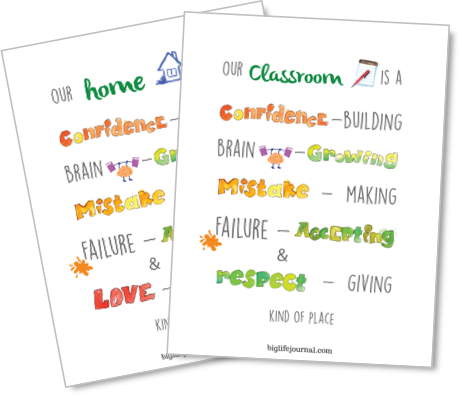 A set of printable growth mindset posters for kids: for home and for classroom.