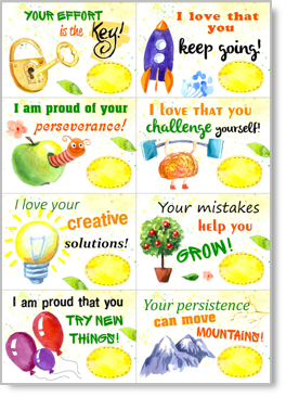 growth mindset printable lunchbox notes for kids