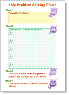 A printable problem-solving worksheet for kids.