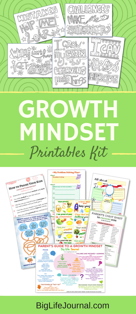 A convenient set of 25 growth mindset printables for kids, parents, and educators. Perfect for any classroom or a homeschool!