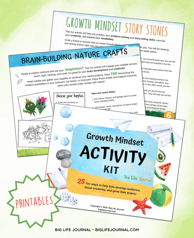 growth mindset activities kit - big life journal
