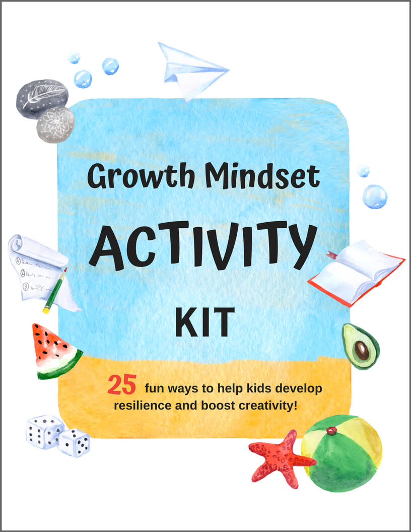 growth mindset activity kit kids printable