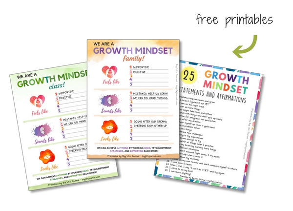 Free growth mindset printables for classroom or home