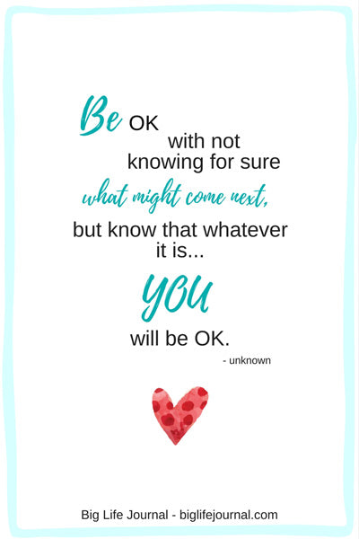 Encouragement for anxiety sufferer