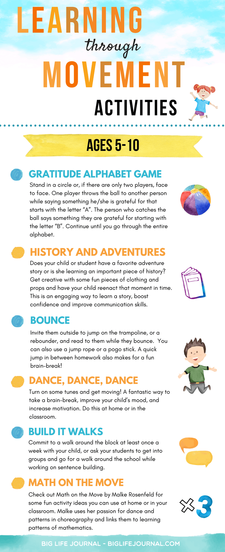 Adventure Story Ideas how to raise smart kids through movement (15 age-specific