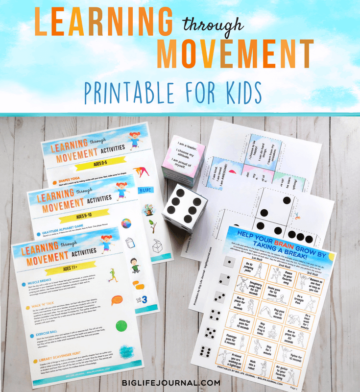 learning through movement big life journal