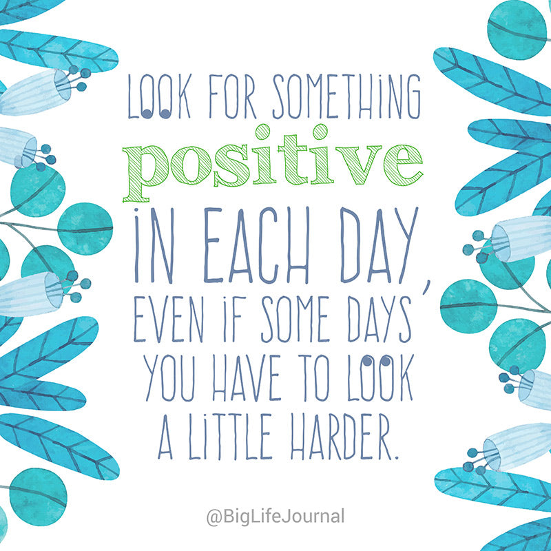 look for something positive - big life journal