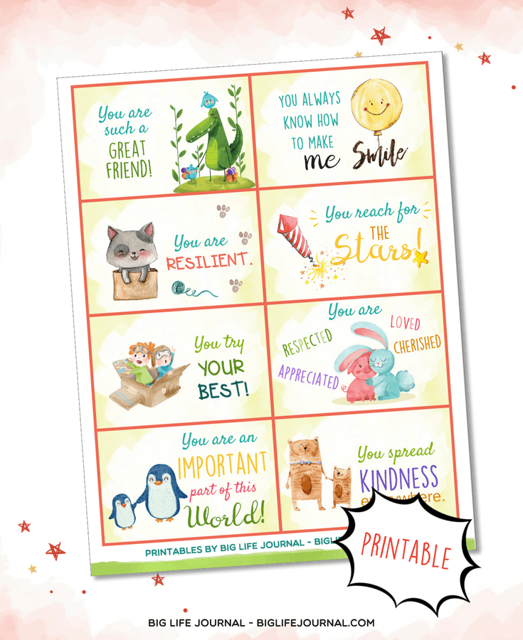 lunchbox notes printables kit