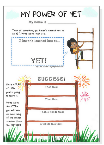 Power of Yet printable for children